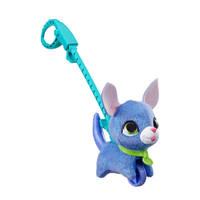 FurReal Friends Walkalots kleine Puppy interactieve knuffel, Blauw