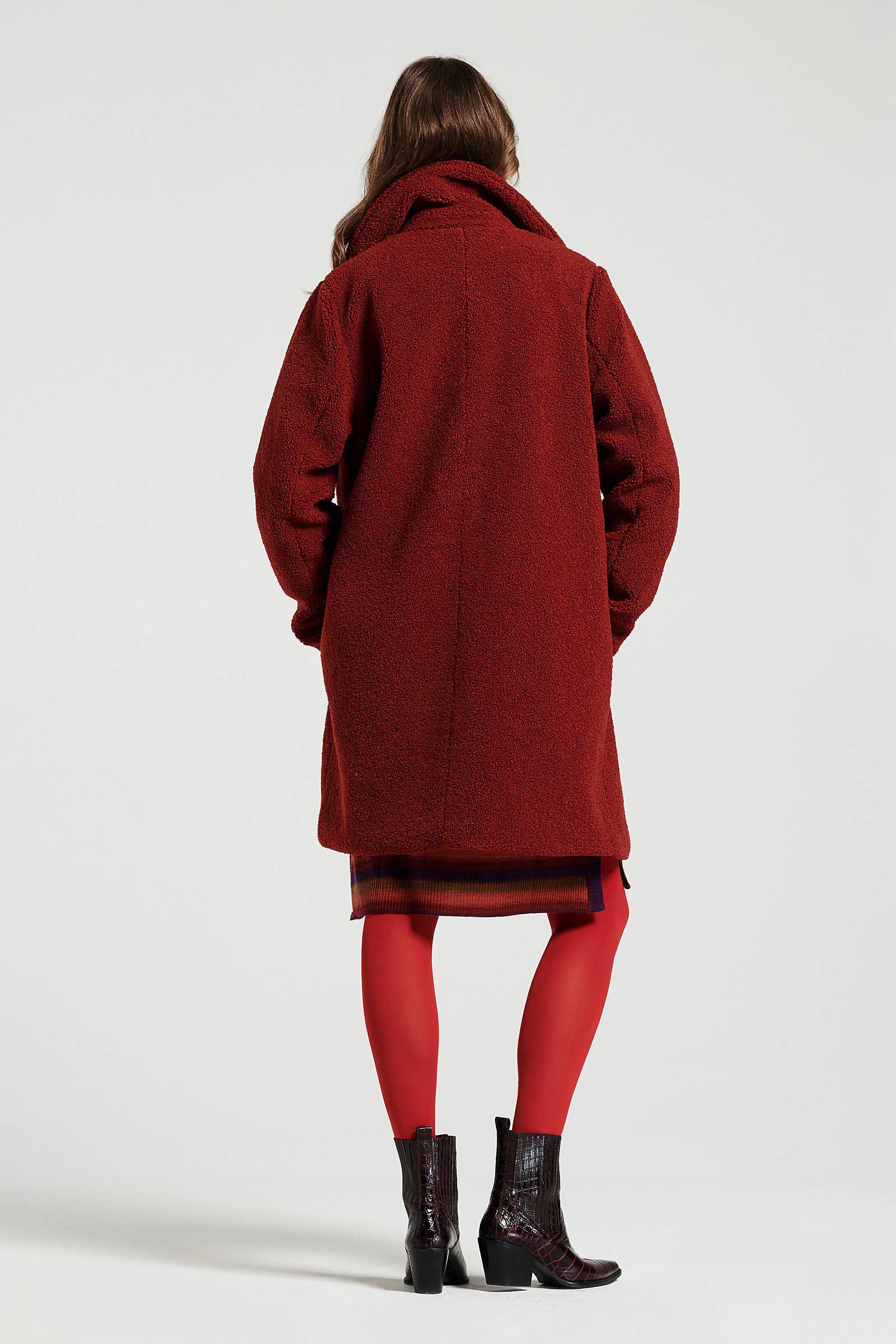 Didi teddy jas rood | wehkamp