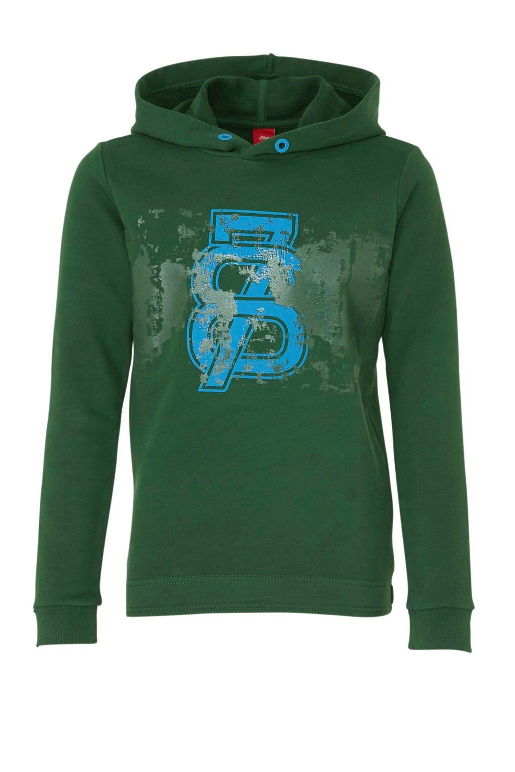 great deals the latest 50% off hoodie met printopdruk donkergroen