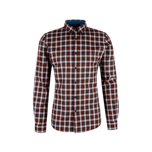s.Oliver BLACK LABEL slim fit overhemd met all ove