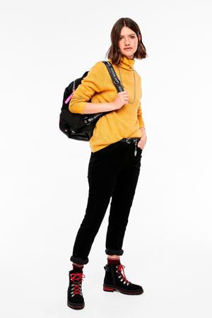 gebreide trui geel
