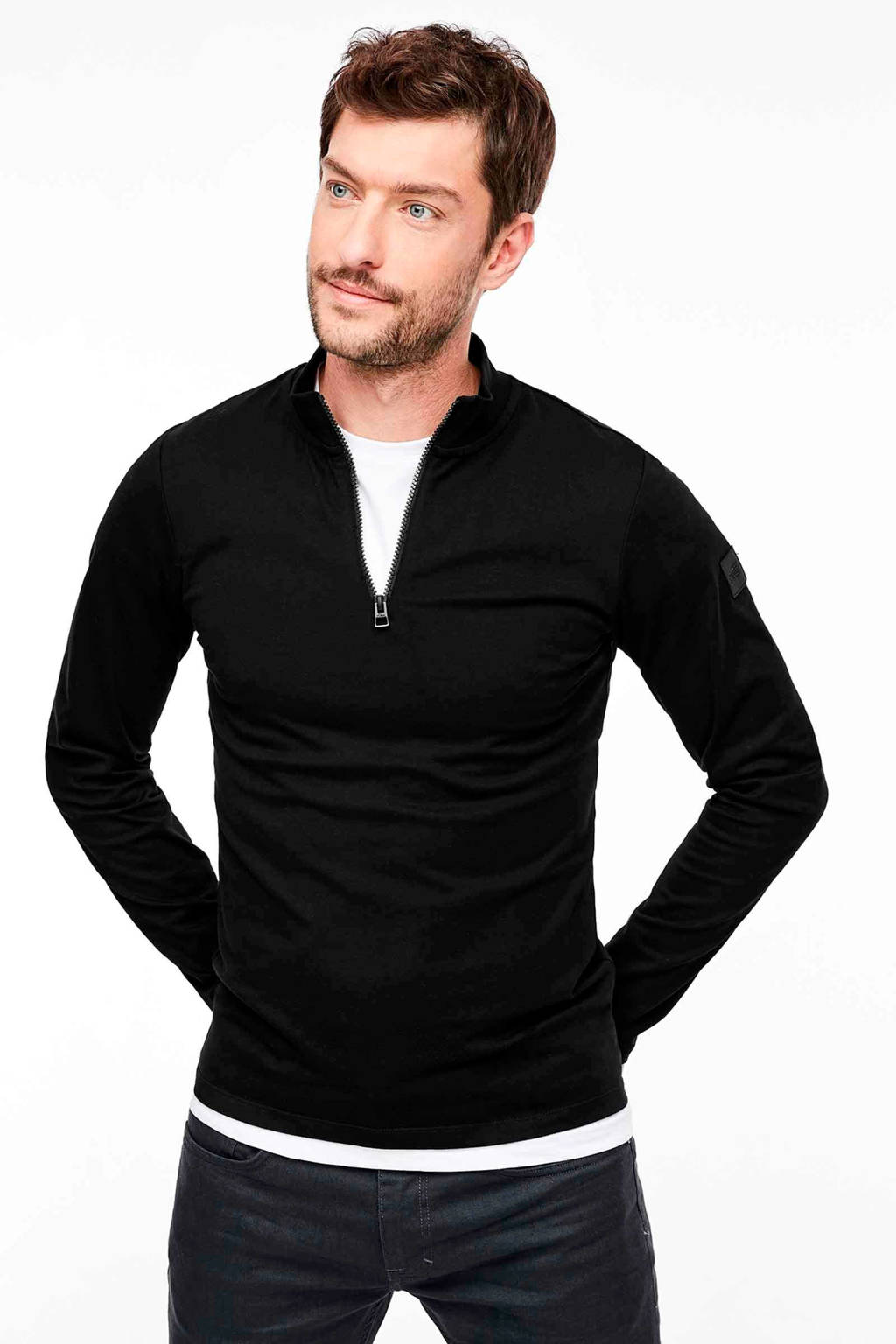 s.Oliver T-shirt zwart, Zwart