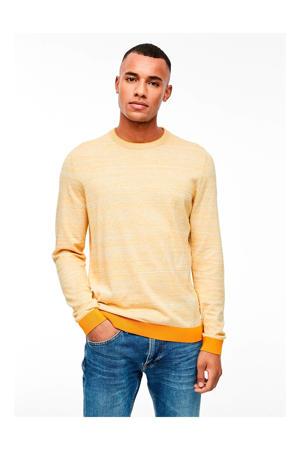 gemêleerde trui geel