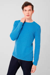 Q/S designed by gemêleerde trui blauw, Blauw