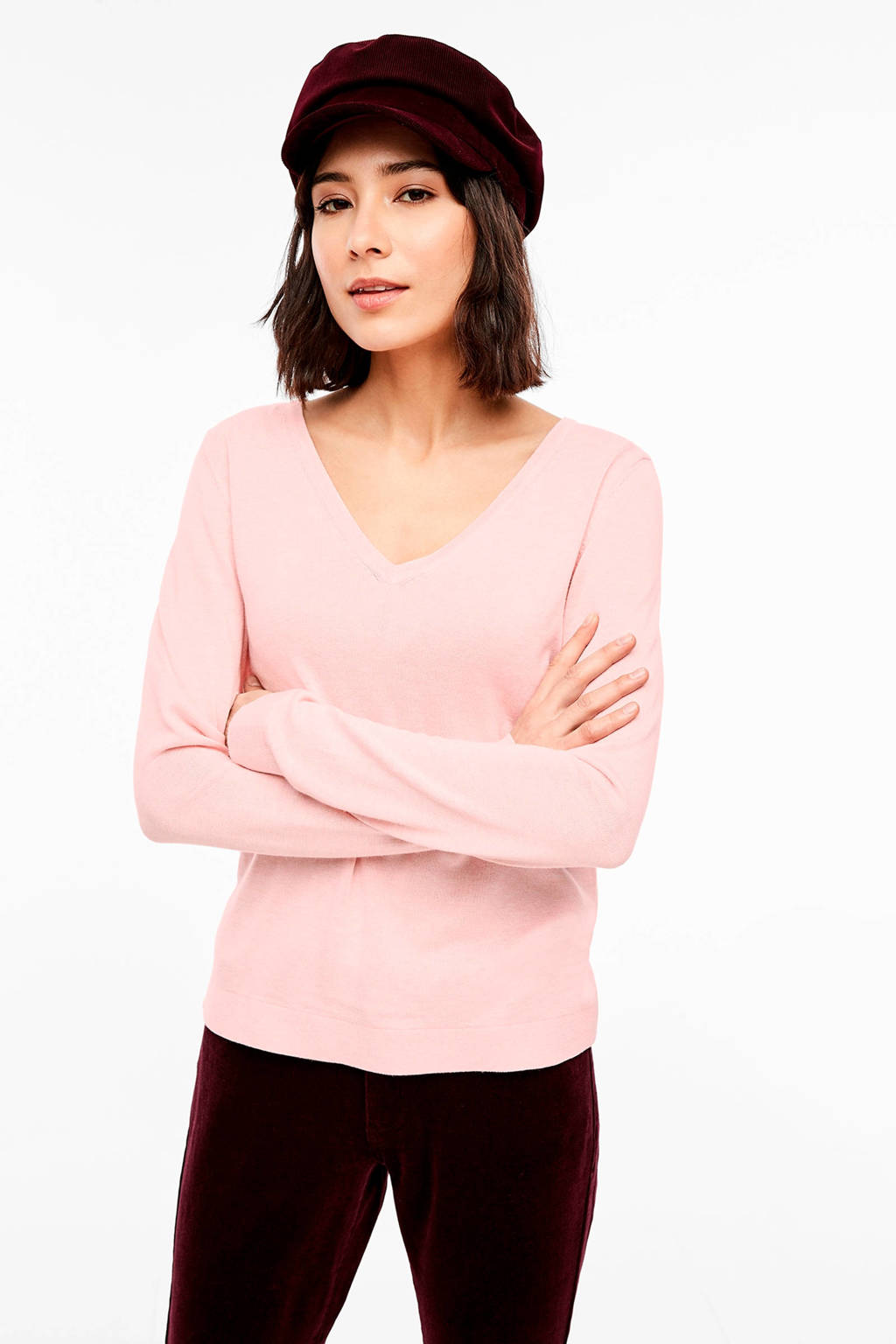 s.Oliver fijngebreide trui roze, Roze