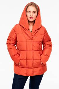 TRIANGLE gewatteerde jas oranje, Oranje