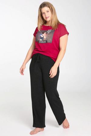 pyjamatop met print rood