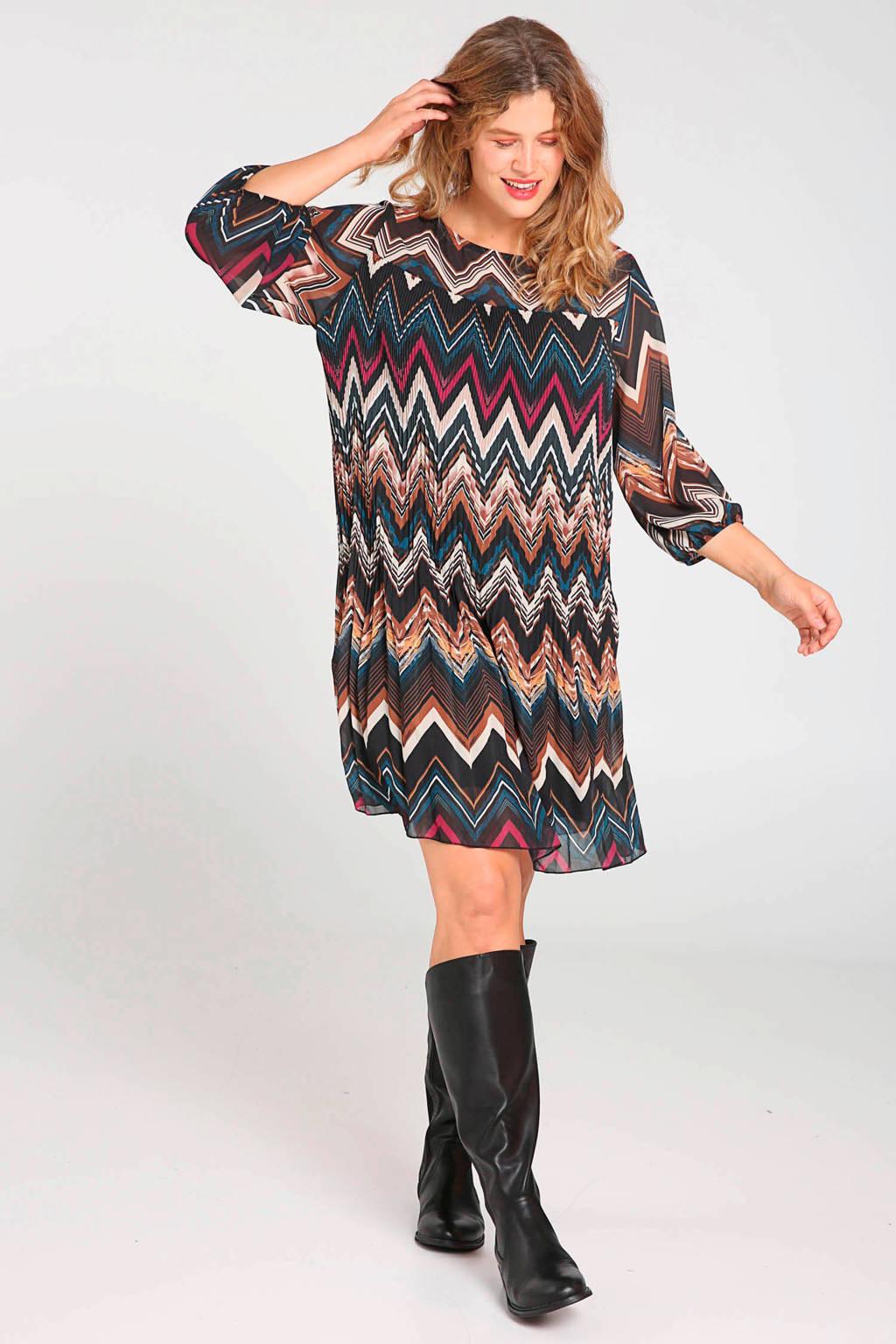 Paprika jurk met all over print multi, Multi
