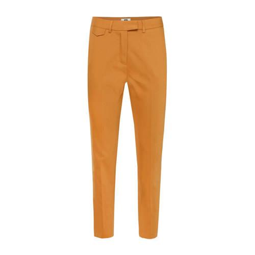 WE Fashion slim fit pantalon oranje