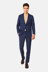 WE Fashion geruit regular fit colbert met wol royal navy, Royal Navy