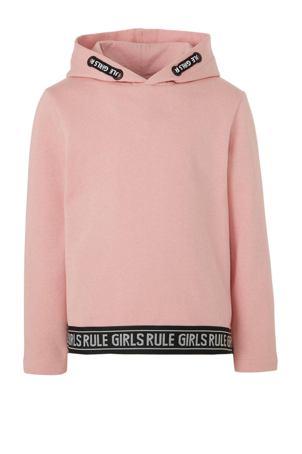 C&A Here & There hoodie met contrastbies roze, Roze