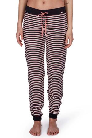 gestreepte pyjamabroek zwart/roze