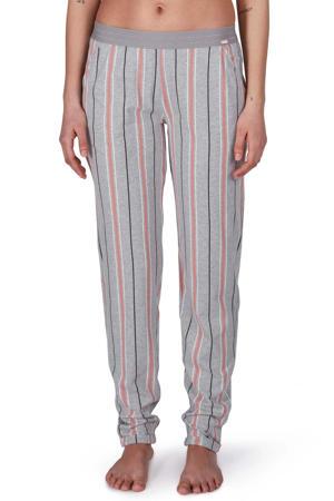 gestreepte pyjamabroek grijs/roze