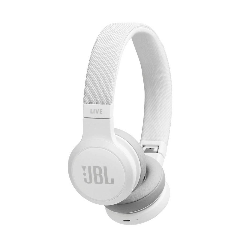 JBL LIVE 400BT Bluetooth on-ear koptelefoon, Wit