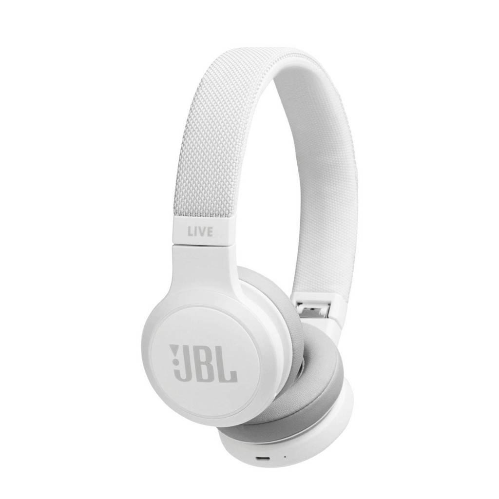 JBL LIVE 400BT draadloze on-ear koptelefoon, Wit