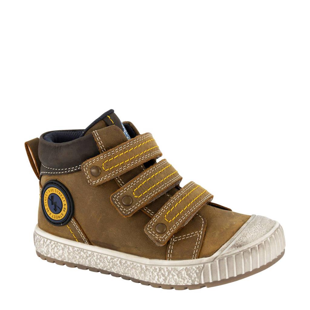 Bobbi-Shoes   halfhoge leren sneakers bruin, Bruin