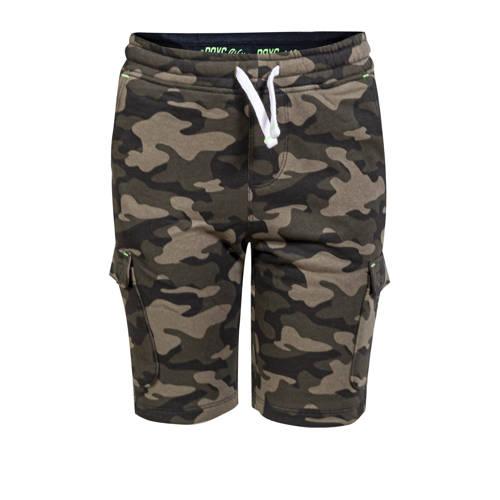 WE Fashion slim fit cargo bermuda met camouflagepr