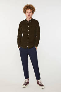 WE Fashion slim fit overhemd forest night, Forest night