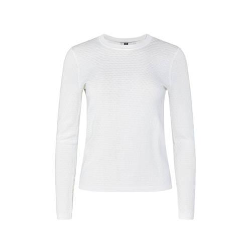 WE Fashion fijngebreide top wit