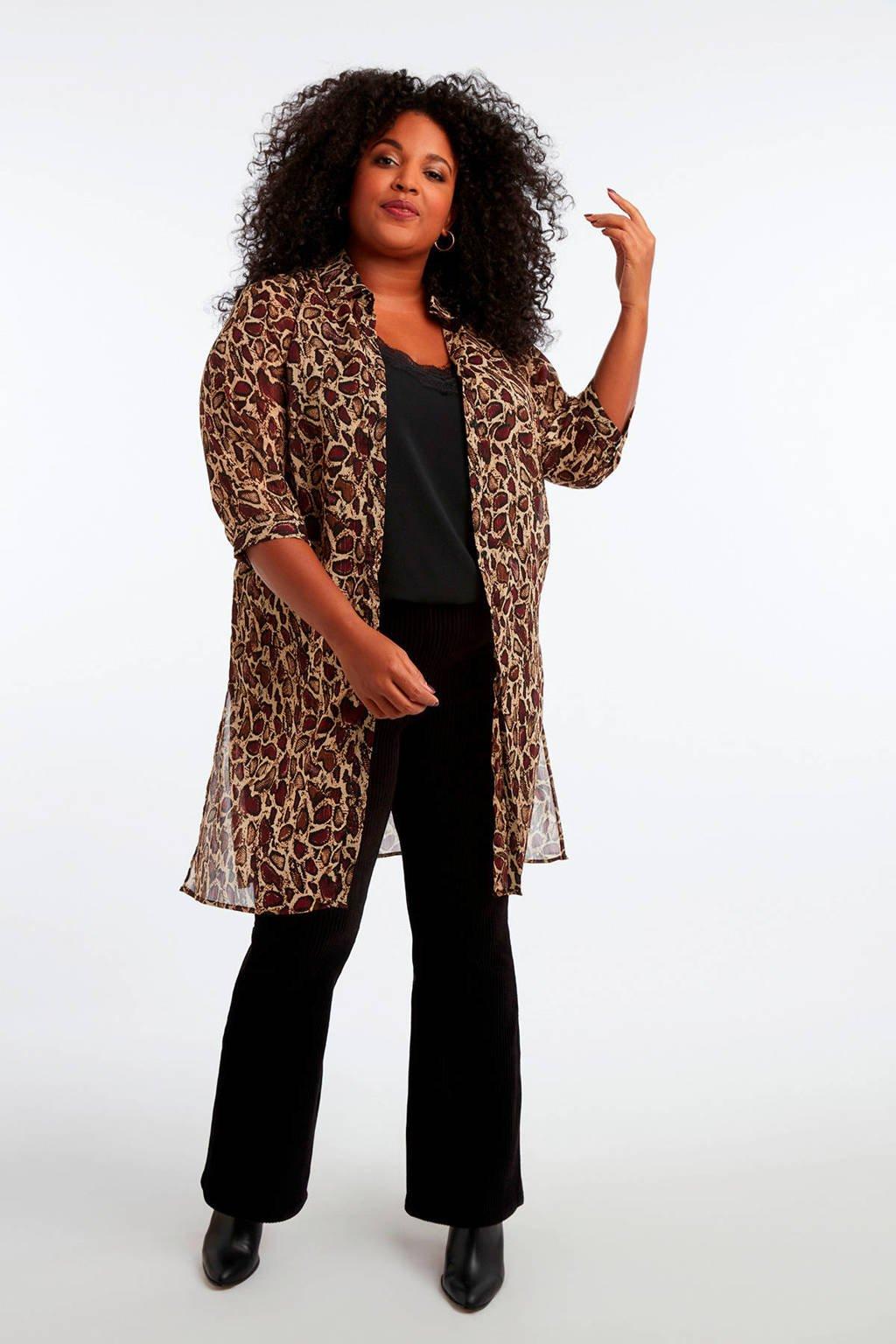 MS Mode fluwelen legging zwart, Zwart