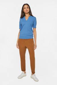 WE Fashion fijngebreide top blauw, Blauw