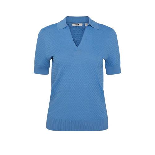 WE Fashion fijngebreide top blauw
