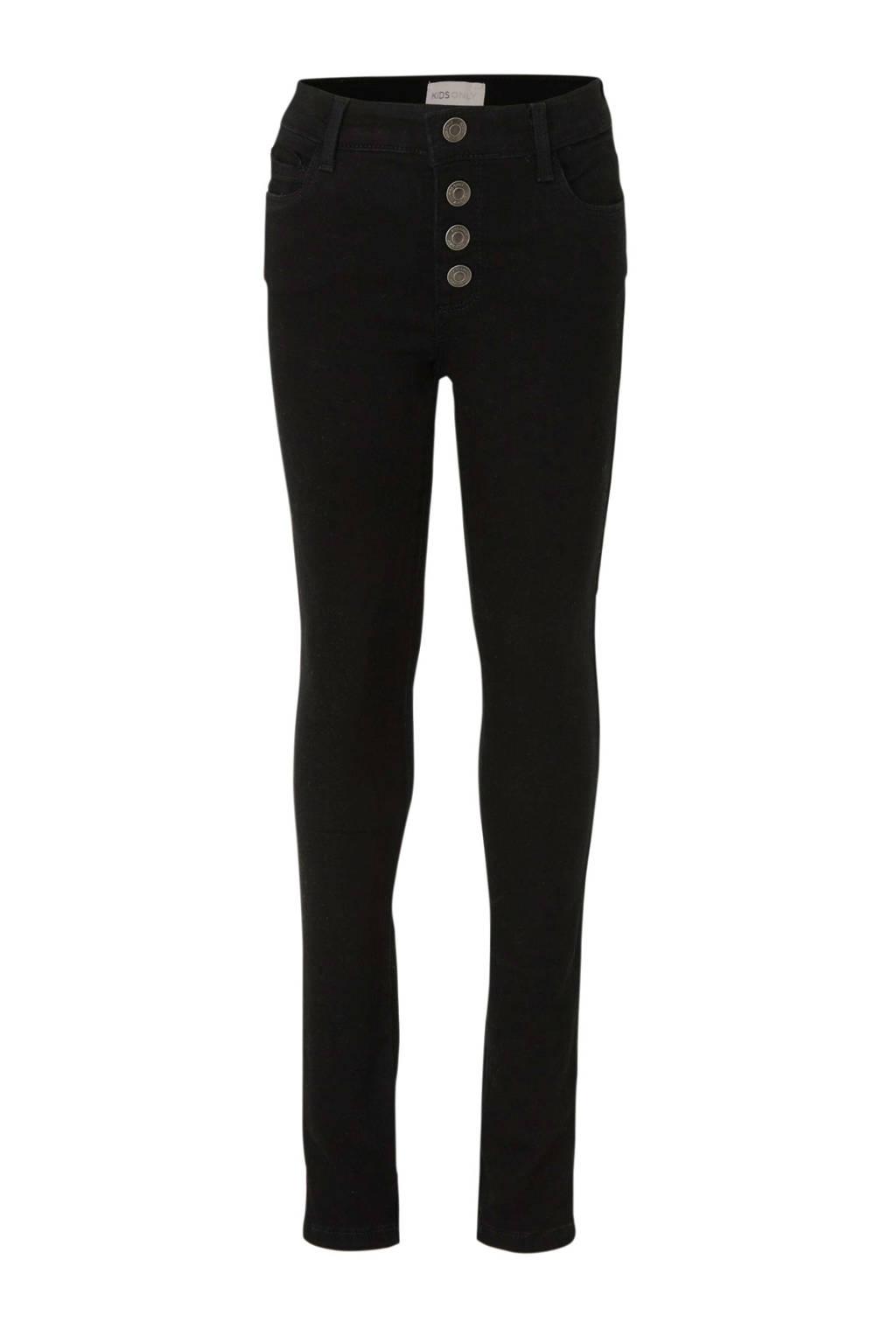 KIDS ONLY skinny jeans Rose met biologisch katoen zwart, Zwart