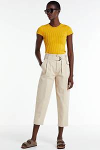 NIKKIE fijngebreide top Jessie en textuur geel, Geel