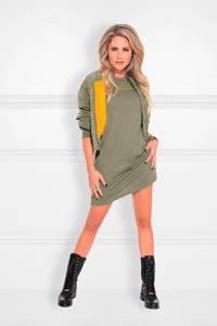 NIKKIE jersey jurk met printopdruk olijfgroen, Olijfgroen