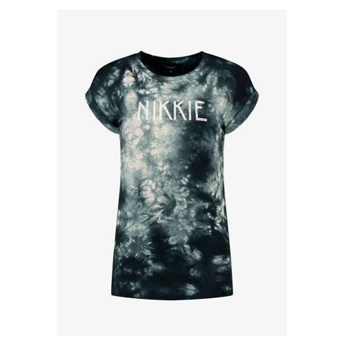 NIKKIE tie-dye T-shirt zwart