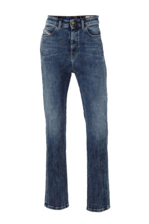 high waist straight fit jeans D-Eiselle blauw