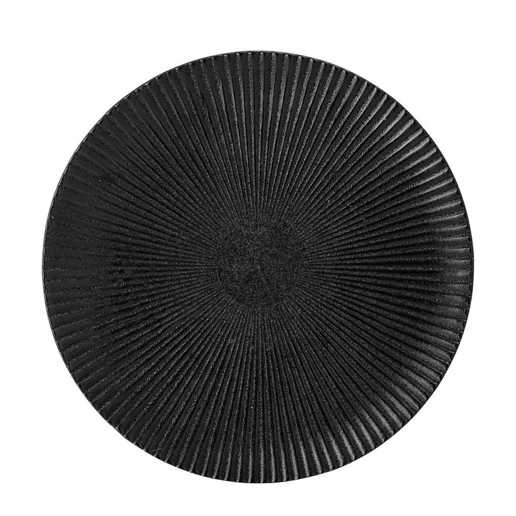 Bloomingville Neri gebaksbord (Ø18 cm), Zwart