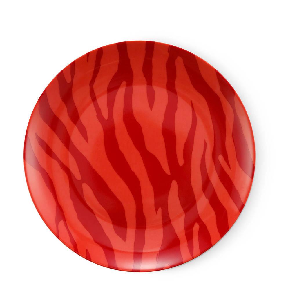 Fabienne Chapot Zebra Stripes ontbijtbord (Ø21,5 cm), Rood