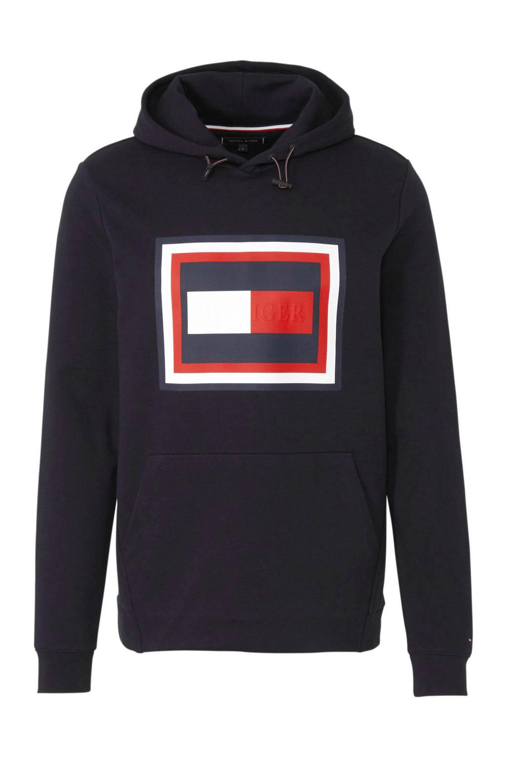 Tommy Hilfiger hoodie met printopdruk zwart, Zwart