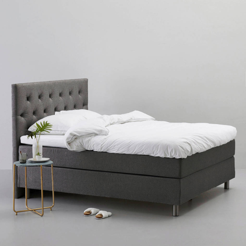 whkmp's own complete boxspring Austin (160x200 cm), Donkergrijs
