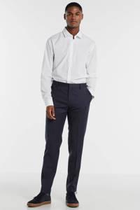 Tommy Hilfiger Tailored gestreepte wollen slim fit pantalon donkerblauw, Donkerblauw