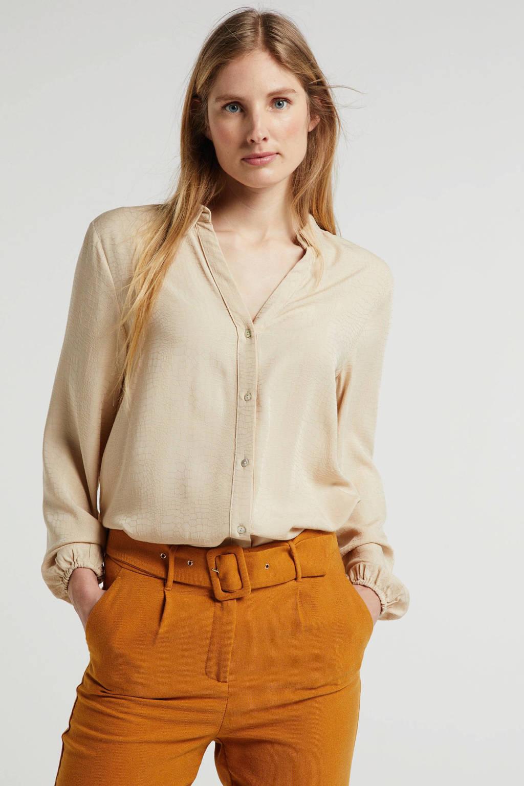 Aaiko blouse beige, Beige