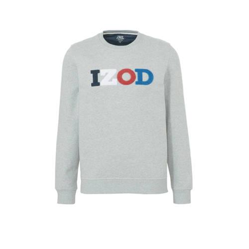 IZOD sweater met logo lichtgrijs