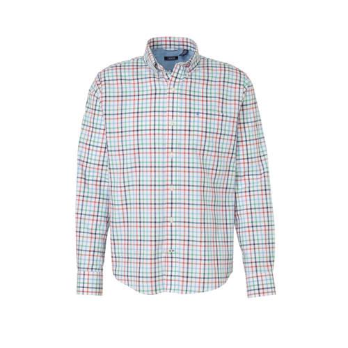 IZOD gestreept regular fit overhemd wit/blauw/rood