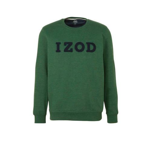 IZOD sweater met printopdruk donkergroen