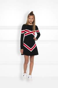 NIK&NIK trui Benty met print zwart/rood/wit, Zwart/rood/wit