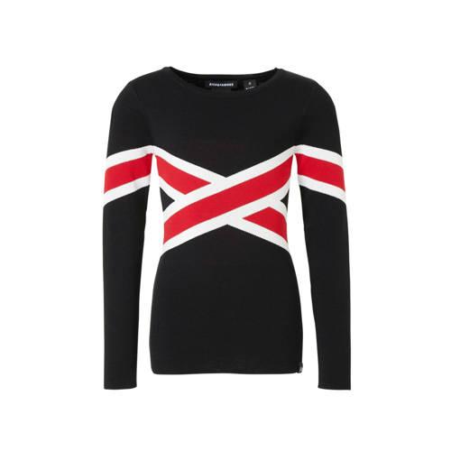 NIK&NIK trui Benty met print zwart/rood/wit