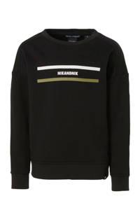 NIK&NIK sweater Kalan met printopdruk zwart, Zwart