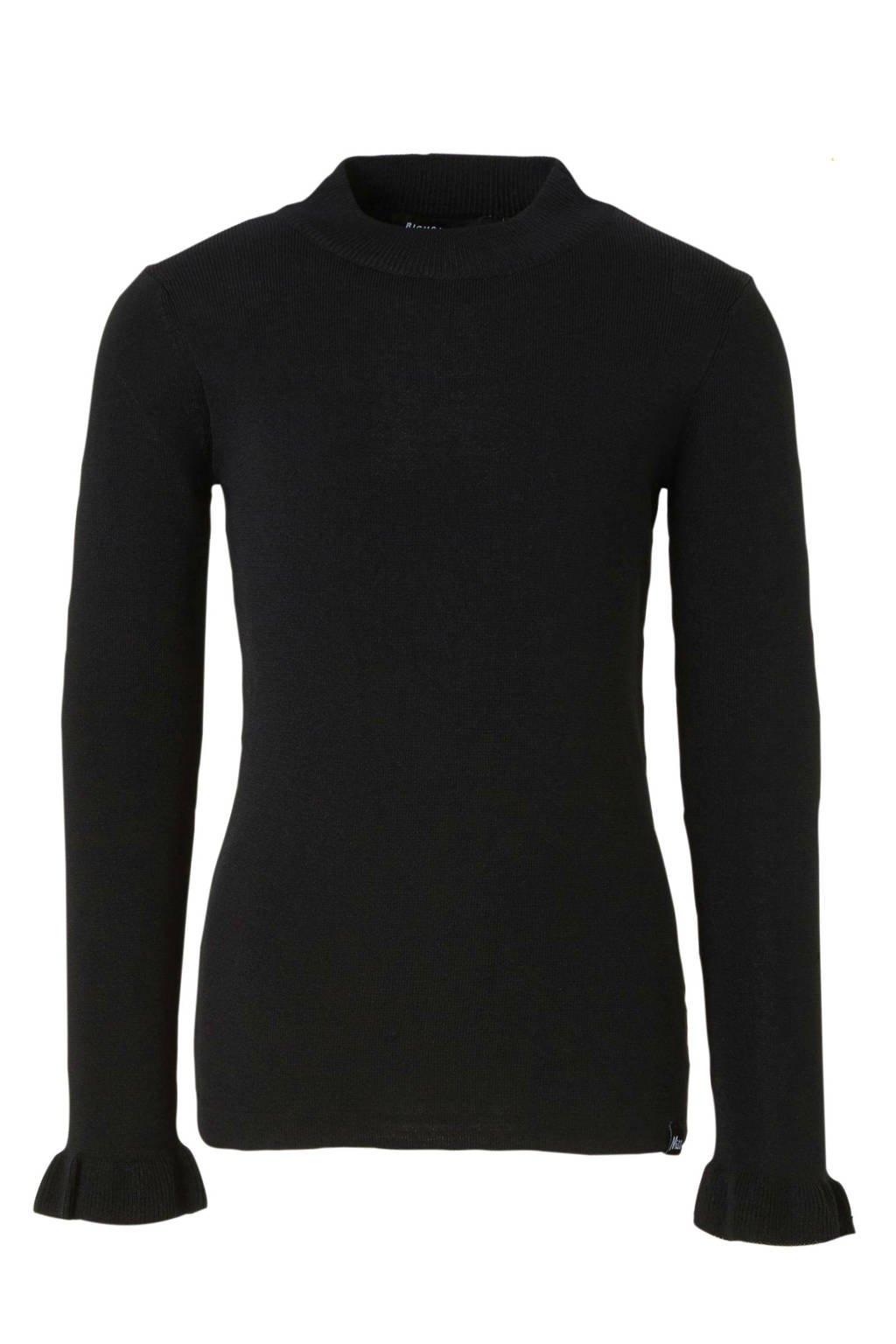 NIK&NIK fijngebreide trui Helma zwart, Zwart
