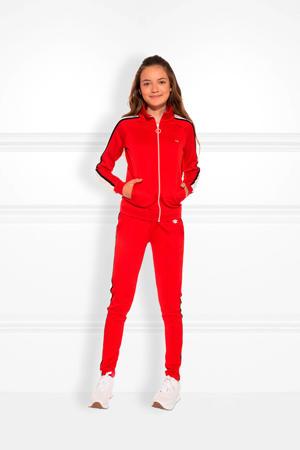 vest Track met contrastbies rood/wit/zwart