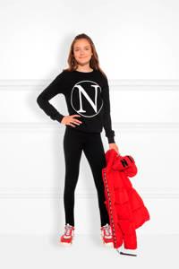 NIK&NIK sweater Kim N met printopdruk zwart/wit, Zwart/wit