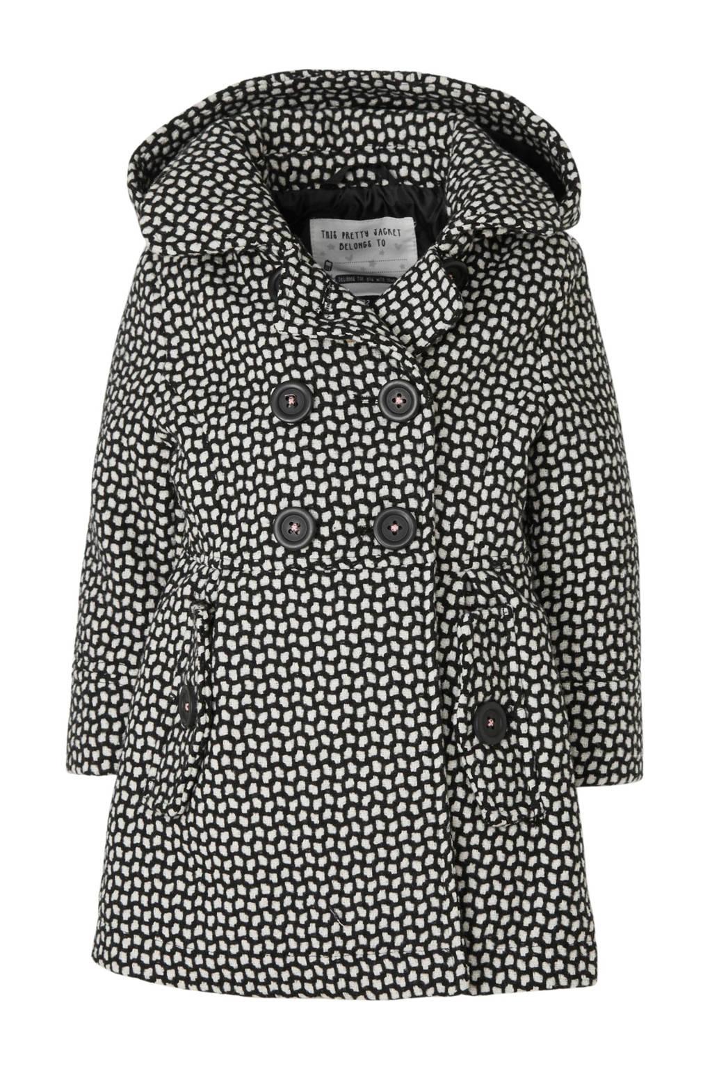 C&A Palomino winterjas met all over print zwart/wit, Zwart/wit