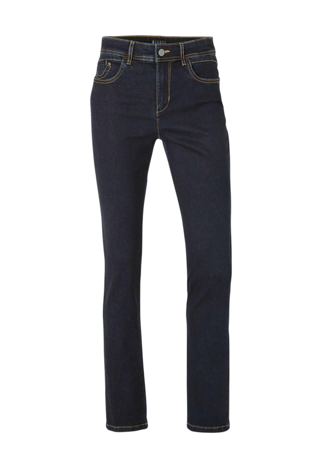 C&A Canda high waist straight fit jeans, Dark denim