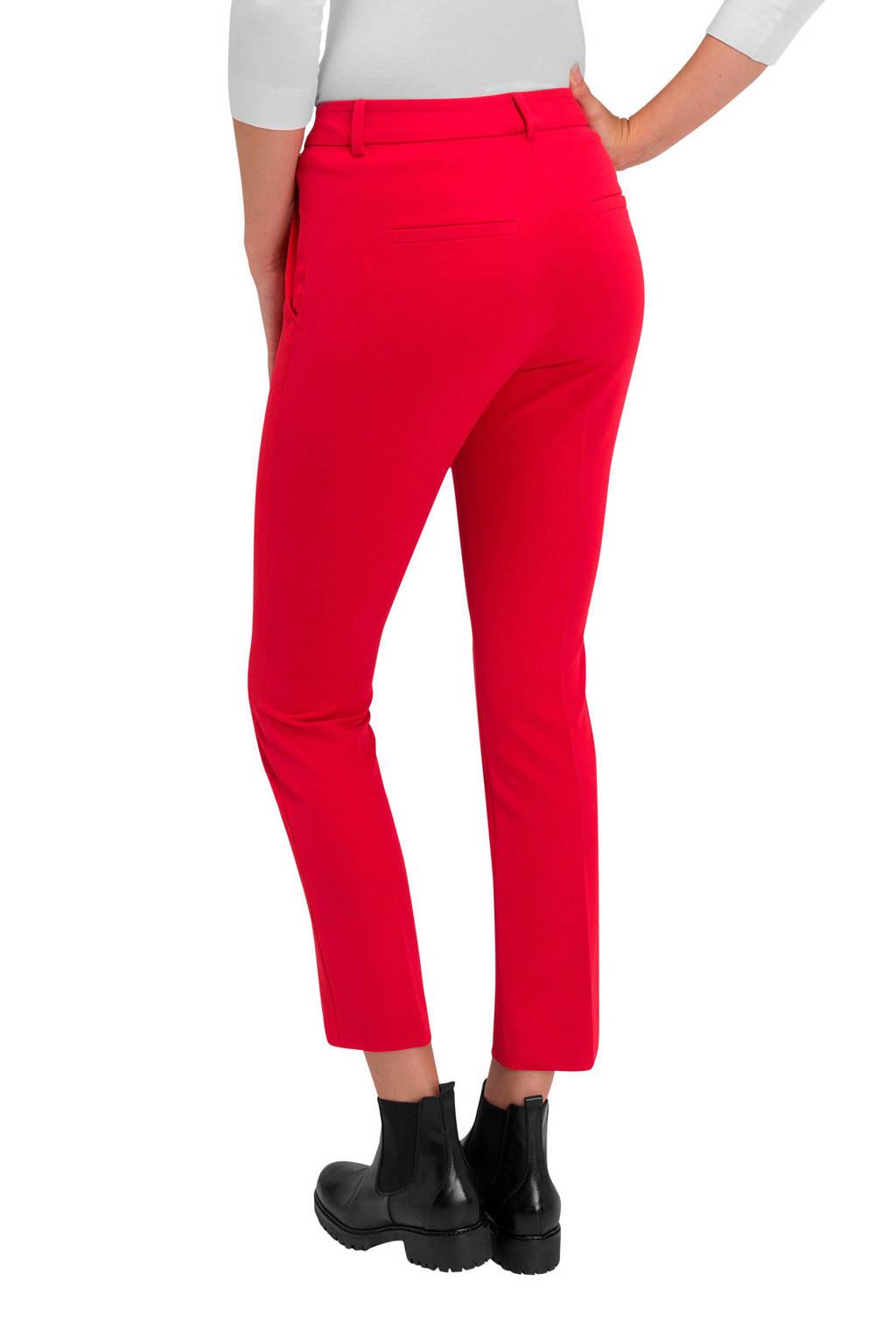 Claudia Sträter straight fit pantalon rood, Rood