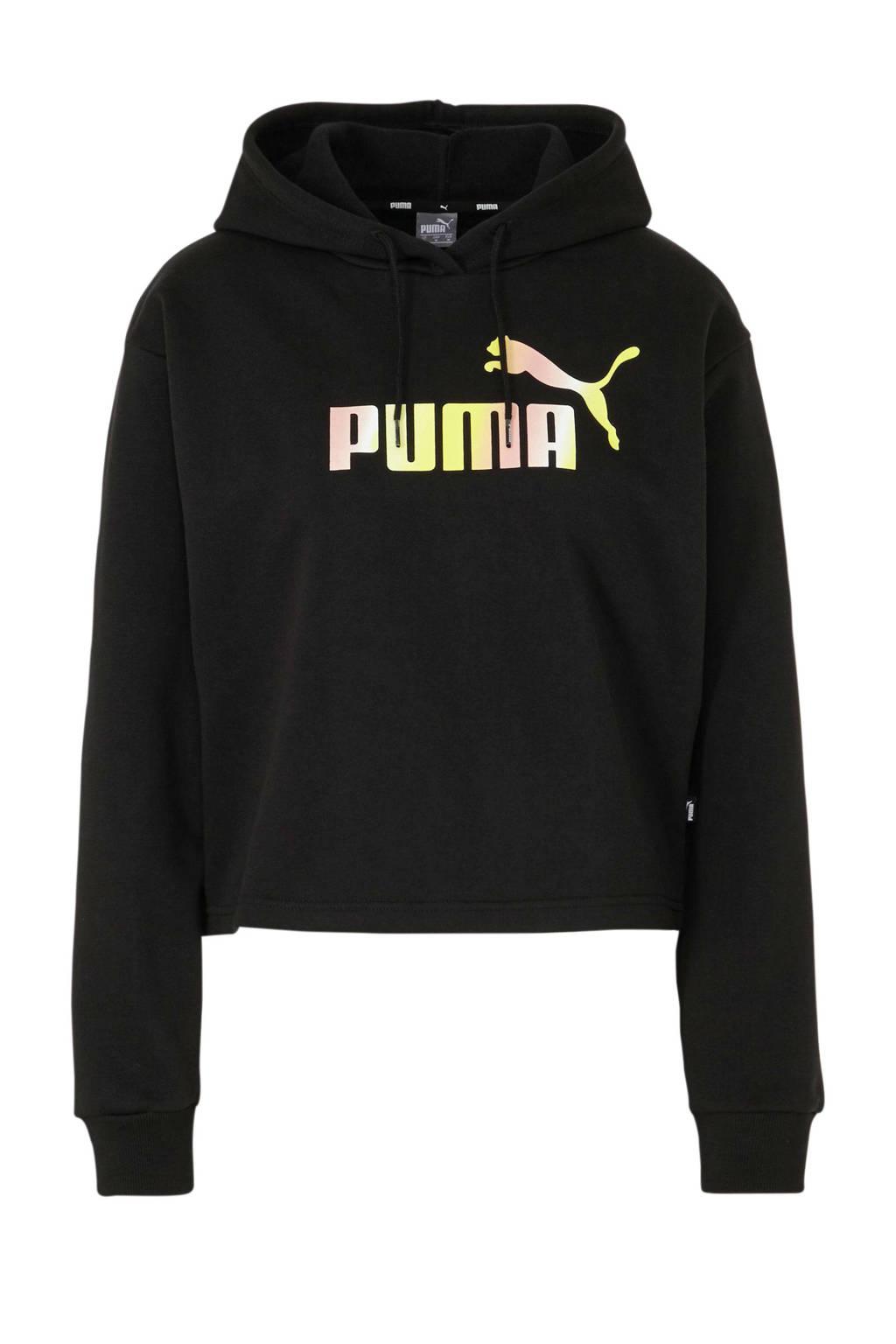 Puma cropped sweater zwart, Zwart